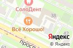 Схема проезда до компании Ламетра в Санкт-Петербурге
