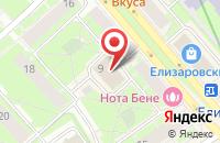 Схема проезда до компании Аллеон в Санкт-Петербурге