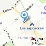 Магазин одежды и нижнего белья на карте Санкт-Петербурга