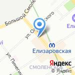 Колибри на карте Санкт-Петербурга