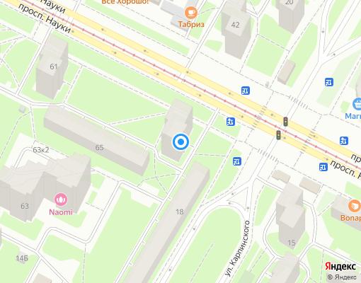 Жилищно-строительный кооператив «ЖСК № 296» на карте Санкт-Петербурга