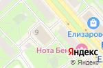 Схема проезда до компании Rieker в Санкт-Петербурге