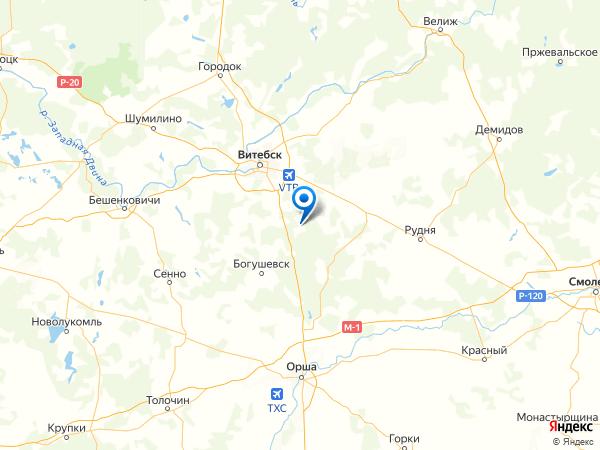 деревня Черкасы на карте