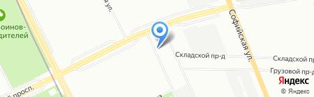 Магазин автозапчастей для иномарок на Малой Карпатской на карте Санкт-Петербурга