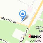Северная Пальмира на карте Санкт-Петербурга