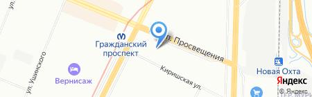 МеталлПроект на карте Санкт-Петербурга