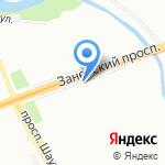 Магазин женской и детской одежды на карте Санкт-Петербурга