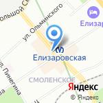 Киоск по ремонту обуви и изготовлению ключей на карте Санкт-Петербурга