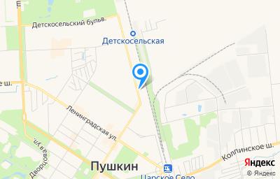 Местоположение на карте пункта техосмотра по адресу г Санкт-Петербург, г Пушкин, ул Железнодорожная, д 51