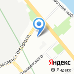 Ольдам на карте Санкт-Петербурга