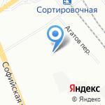 Теплопит на карте Санкт-Петербурга