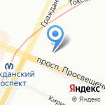 Вербочка на карте Санкт-Петербурга