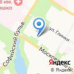 Аист на карте Санкт-Петербурга