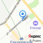 Река на карте Санкт-Петербурга