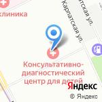 Консультативно-диагностический центр для детей на карте Санкт-Петербурга