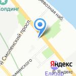 Магазин мужской одежды и обуви на карте Санкт-Петербурга