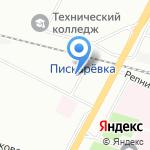 Лада на карте Санкт-Петербурга