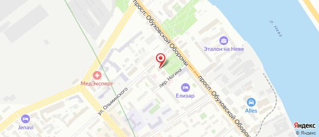Карта расположения пункта доставки Санкт-Петербург Ногина в городе Санкт-Петербург