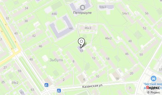 Чайка. Схема проезда в Санкт-Петербурге