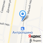 Антропшино на карте Санкт-Петербурга