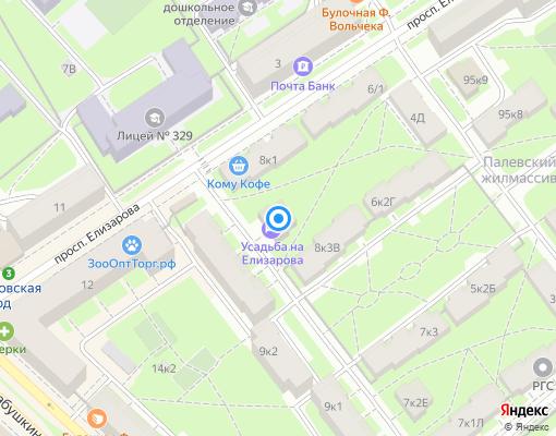 Товарищество собственников жилья «Елизарова 8-2» на карте Санкт-Петербурга