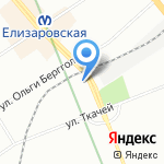 Цифровой квадрат на карте Санкт-Петербурга