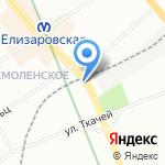 Сапожок на карте Санкт-Петербурга
