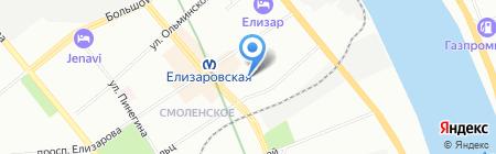 ЛАСПИ на карте Санкт-Петербурга