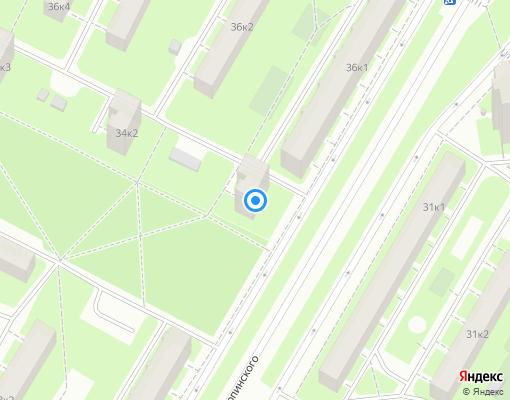 Товарищество собственников жилья «Карпинского 34» на карте Санкт-Петербурга