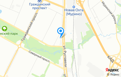 Местоположение на карте пункта техосмотра по адресу г Санкт-Петербург, ул Руставели, д 46 к 1 литер а