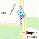 Коллективная автостоянка №5 на карте Санкт-Петербурга