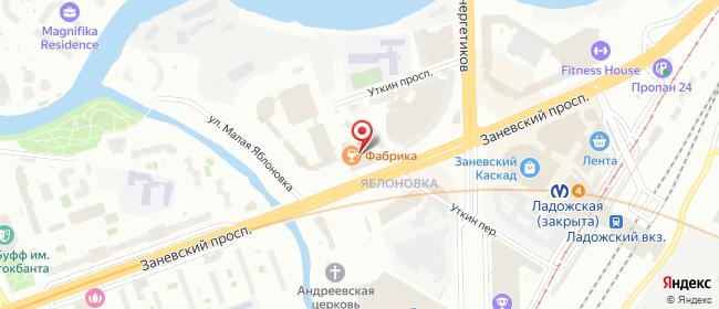 Карта расположения пункта доставки Санкт-Петербург Заневский в городе Санкт-Петербург