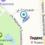 Полюстрово на карте Санкт-Петербурга