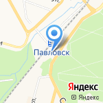 Флора на карте Санкт-Петербурга