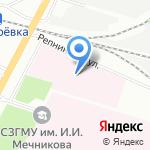 Клиническая инфекционная больница им. С.П. Боткина на карте Санкт-Петербурга