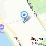 Библиотека №13 на карте Санкт-Петербурга