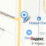 Коллективная автостоянка №21 на карте Санкт-Петербурга
