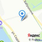 Компания по продаже нерудных материалов на карте Санкт-Петербурга