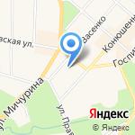 Сеть магазинов автозапчастей на карте Санкт-Петербурга