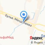 Хлебная душа на карте Санкт-Петербурга