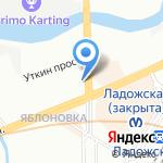 Златоград на карте Санкт-Петербурга
