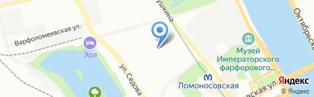 Айрин на карте Санкт-Петербурга