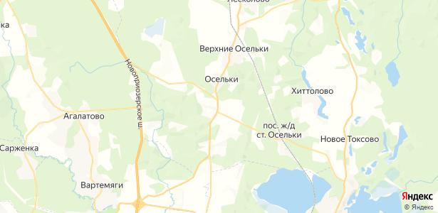 Нижние Осельки на карте
