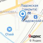 Рыбинская на карте Санкт-Петербурга