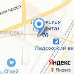 Лис на карте Санкт-Петербурга