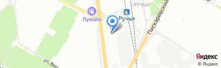 Шиномонтажная мастерская на ул. Руставели на карте Санкт-Петербурга