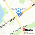 Муниципальное образование Ивановский округ на карте Санкт-Петербурга