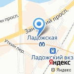 Салон верхней одежды на карте Санкт-Петербурга