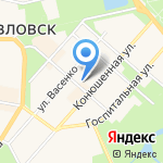 Сюзанна на карте Санкт-Петербурга