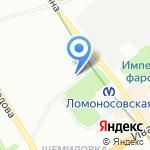 Пожарная часть №52 Невского района на карте Санкт-Петербурга